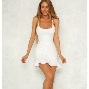 Worn once! Fun white dress from Hello Molly